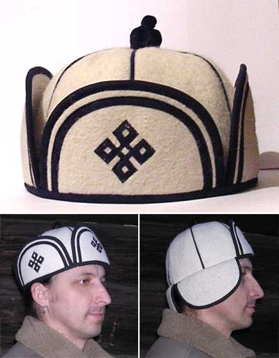 мужская шапка - труба.